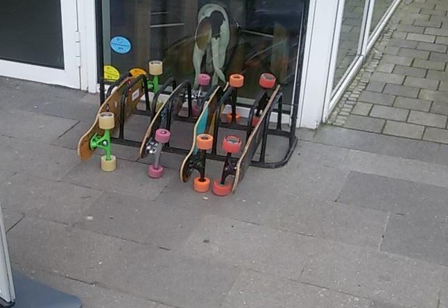 Long- und Skateboardabstellanlage
