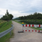 Radweg am Dortmund-Ems-Kanal gesperrt