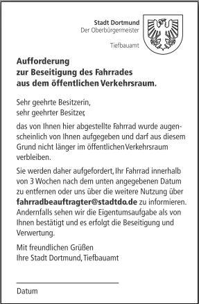 Stadt Dortmund Geht Gegen Herrenlose Fahrräder Im